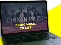 Linkin Park website design concept