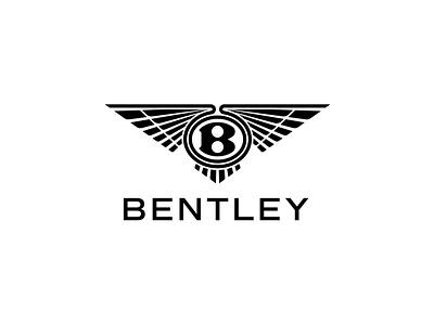 Bentley Logo Redesign via TheFutur flat minimal vector identity design branding typography logo lettering type