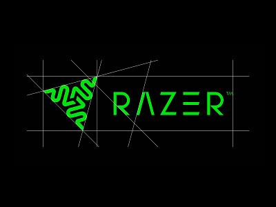 RAZER Redesign via TheFutur flat minimal vector identity design branding typography logo lettering type