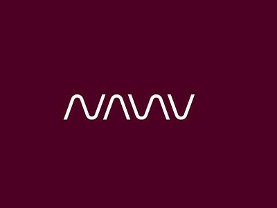 NANU flat minimal vector identity design branding typography logo lettering type