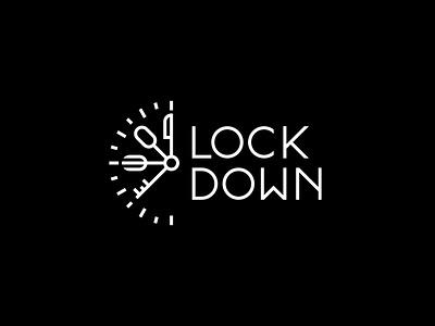 Lockdown Food flat minimal vector identity design branding typography logo lettering type