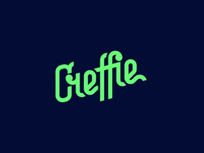 Creffie flat minimal vector identity design branding typography logo lettering type