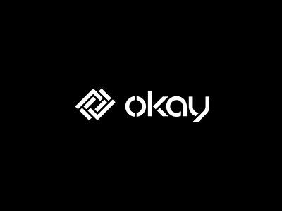 okay records flat minimal vector identity design branding typography logo lettering type