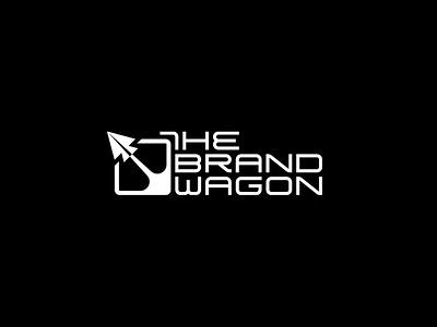 THE BRANDWAGON flat minimal vector identity design branding typography logo lettering type
