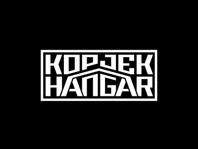 KOPJEK HANGER FESTIVAL flat minimal vector identity design branding typography logo lettering type