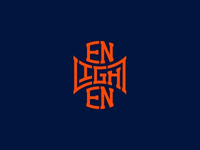 Enlighten mobile web website sport illustration orange simple brand icon monogram minimal identity flat design logo branding vector typography type lettering