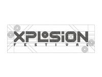 Xplosion Festival Logo Construction