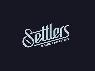 Settlers symbol brand monogram identity design branding logo typography lettering type