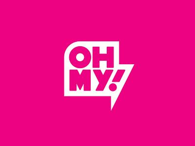 OHMY! brand icon minimal identity design branding logo typography lettering type