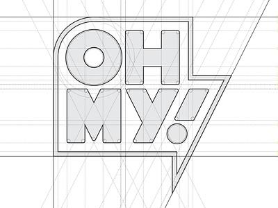 OH MY! brand minimal vector identity design branding logo typography lettering type