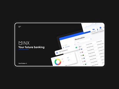 MINX Banking web website design webdesign illustration branding ui