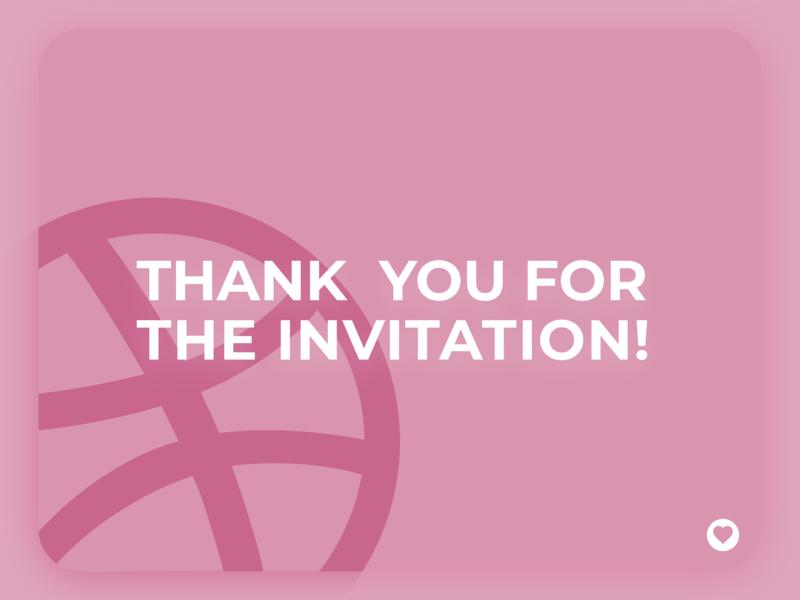 Thank you! invite