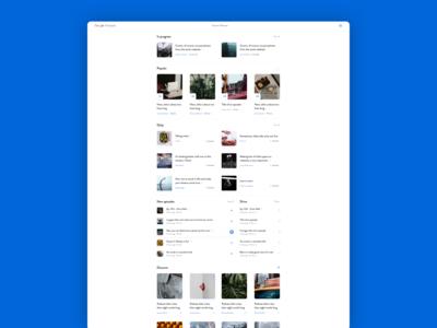 Bluecity: Google Podcasts desktop design concept