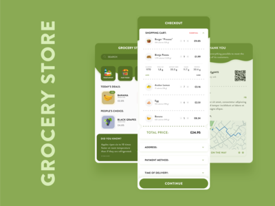 Green: Grocery Store app concept - Daily #1