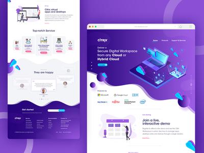 CITRIX - UX/UI - Concept Landing page