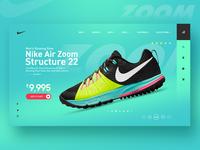 Nike Air Zoom Landing page Web UI