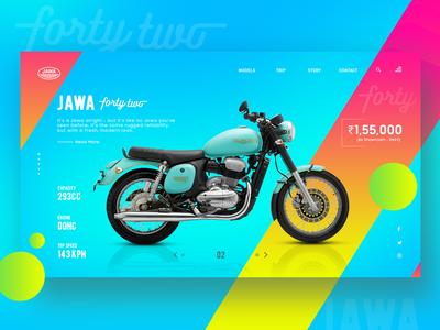 JAWA Forty-two Landing page Web UI