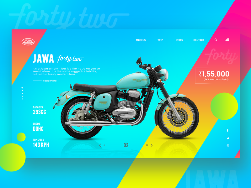 JAWA Forty-two Landing page Web UI concept design user experience user interface ui  ux ux design ux dribbble dribbble best shot web ux web ui web design landing page concept landing page interaction design gradient experience design ui branding design trend 2019