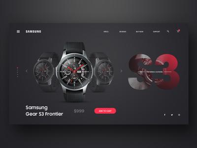 Samsung Gear S3 Landing page Web UI