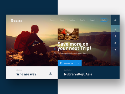 Expedia Travel Agency Landing page Web UI