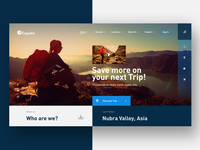 Expedia Travel Agency Landing page Web UI