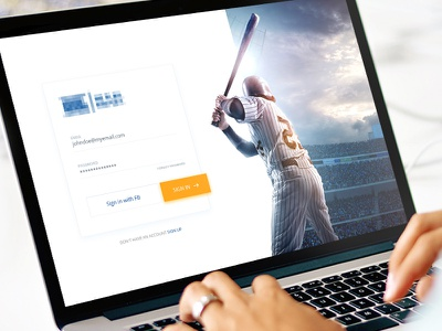 Login Page white sports signup in sign clean ui website login