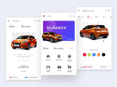 Custom Car Builder app