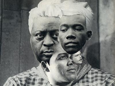 Dreikopf cutandpaste collage