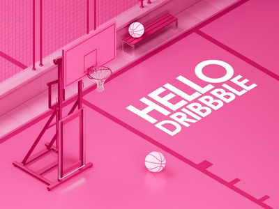 Hello Dribbble cinema4d graphics design illustration motion graphics graphic design 3d