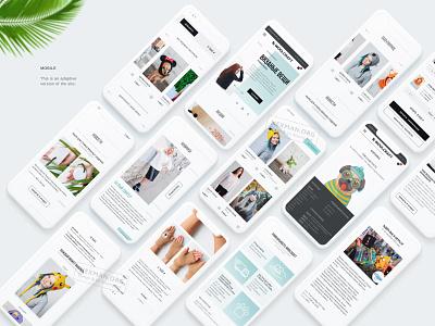 Online Store UI UX Design minimal branding vector website web illustration design app ux ui