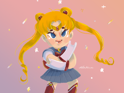 Usagi Sailor Moon sailor moon sailormoon girl character girly girl illustration illustration