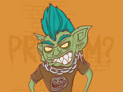 Trolling Illustration troll trolling trollface goblin meme hobgoblin trolled problem troll face