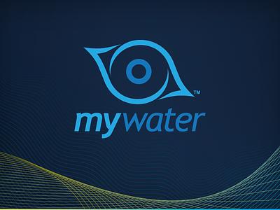 MyWater™ Branding water drop eye ripple water meter prepaid water water bill water use