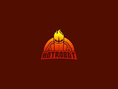 HotRobot™ Logo digital design agency brand logo comic robot