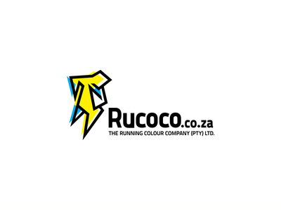 The Running Colour Company (Rucoco) Logo creative studio creative tristan vogt tristanvogt brand logo cubism colour