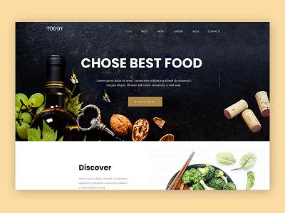 foody web landing page design large userinterface aycdesigner foody uiux webdesign