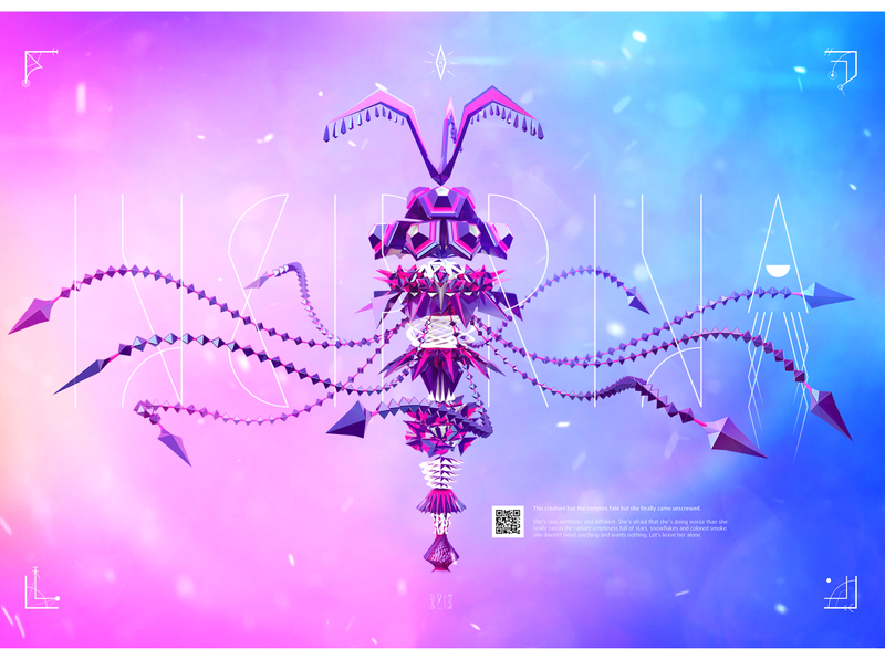 Incirrina. Of The Aglare Void videogame iphone ipad game design cinema 4d low poly vray motion design experiment creature characteranimation character design 3d animation animation