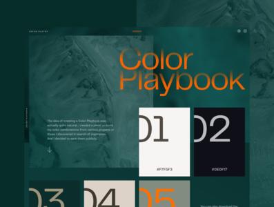 Color Playbook #WIP | no.1 designresources designinpiration colorpalette colors concept web design design ui
