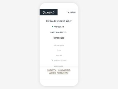 Santal mobile menu