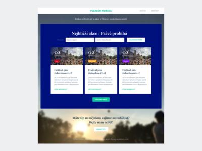 FLKLR website web design flklr green blue