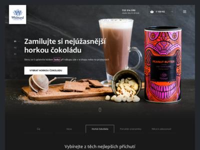 Whittard Concept ui webdesign dark design concept eshop whittard