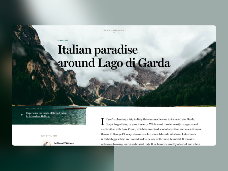 Article detail concept magazine website web design uidesign ui concept