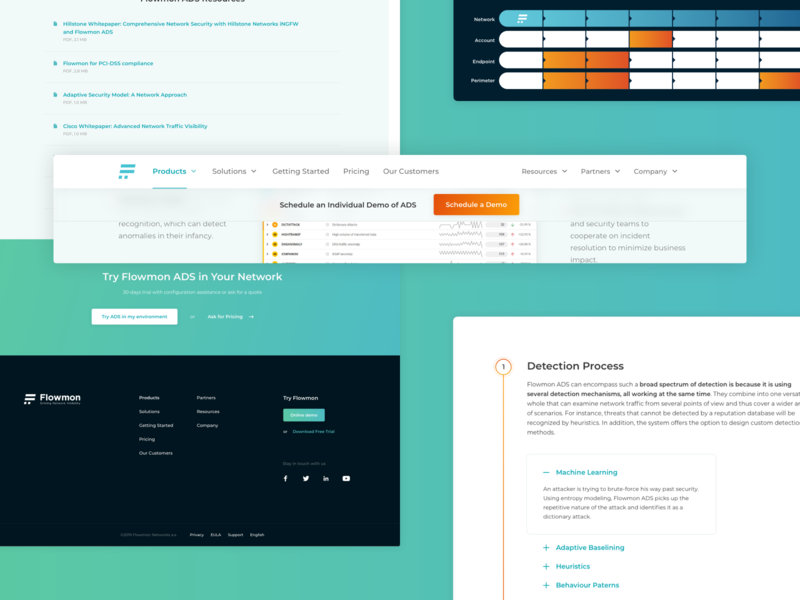 Flowmon | ADS Product Overview – UI Components ui design design ui components webdesign modern modern ui modern design network security