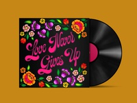Vinyl Cover «Love never gives up»