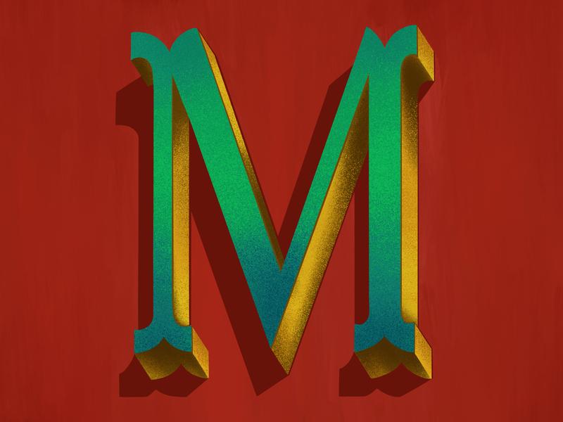 M instagram procreate design instagram challenge lettering typography illustration