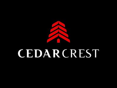 Cedarcrest home pine cone pine tree cedar brand and identity brand agency real estate real estate branding real estate agency real estate agent design logo brand branding