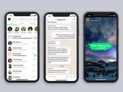 WhatsApp Re-design Concept