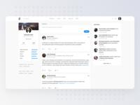 Social Concept Design for AngelList