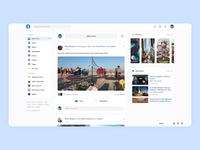 Facebook Website Redesign Concept 2019/2020