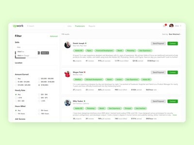 Freelance Job Search Platform / UpWork Redesign